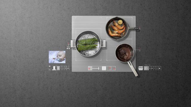 Kochen ohne Knöpfe und das Baby fest im Blick: das Bediensystem Virtual User eXperience VUX überzeugte die Jury des UX Design Awards.