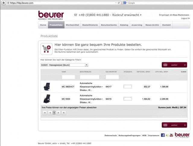 Beurer bietet ab sofort über das neue Händler-Kompetenz Portal (HKP) noch mehr Service-Funktionen.