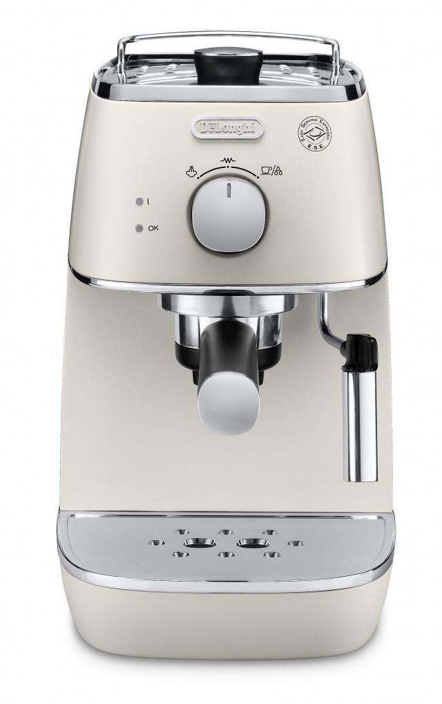 De'Longhi Distinta Espressomaschine ECI341 mit 2 Siebträgereinsätzen.