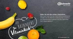 Attraktive Gratiszugabe: Wer bis Ende November ein Kühlgerät von Bauknecht mit ProFresh kauft, bekommt drei Wochen lang immer freitags eine Kiste frische Früchte nachhause.