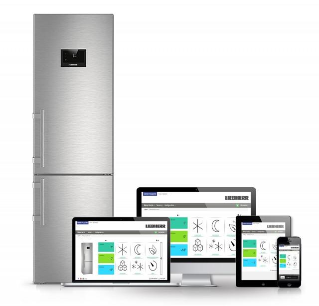 """Mit der optional erhältlichen SmartDeviceBox lassen sich die neuen """"BluPerformance""""-Geräte von Liebherr einfach über WLAN ins Smart Home integrieren und von unterwegs aus steuern."""