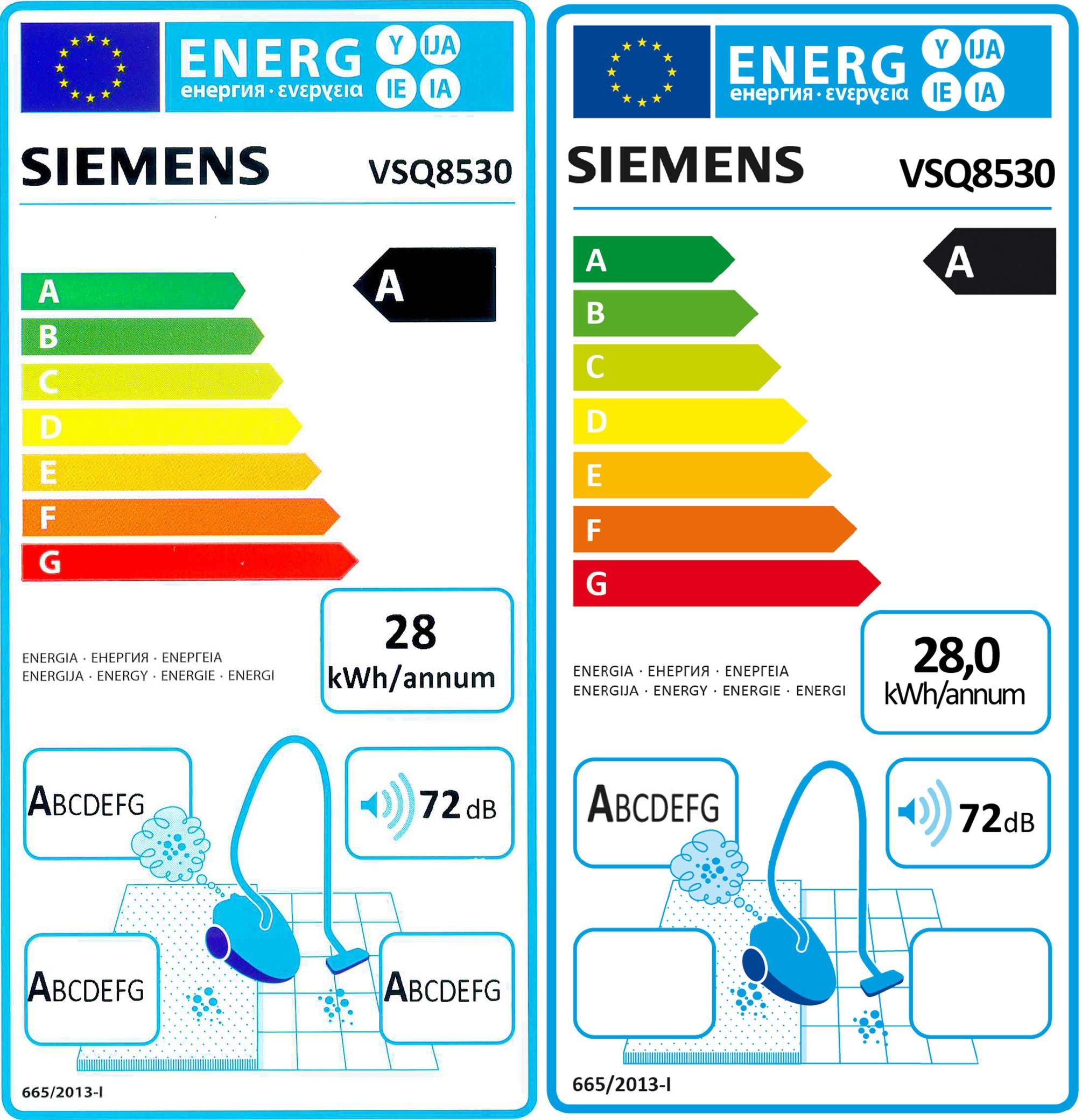Produktdatenblatt für den Siemens VSQ 8530