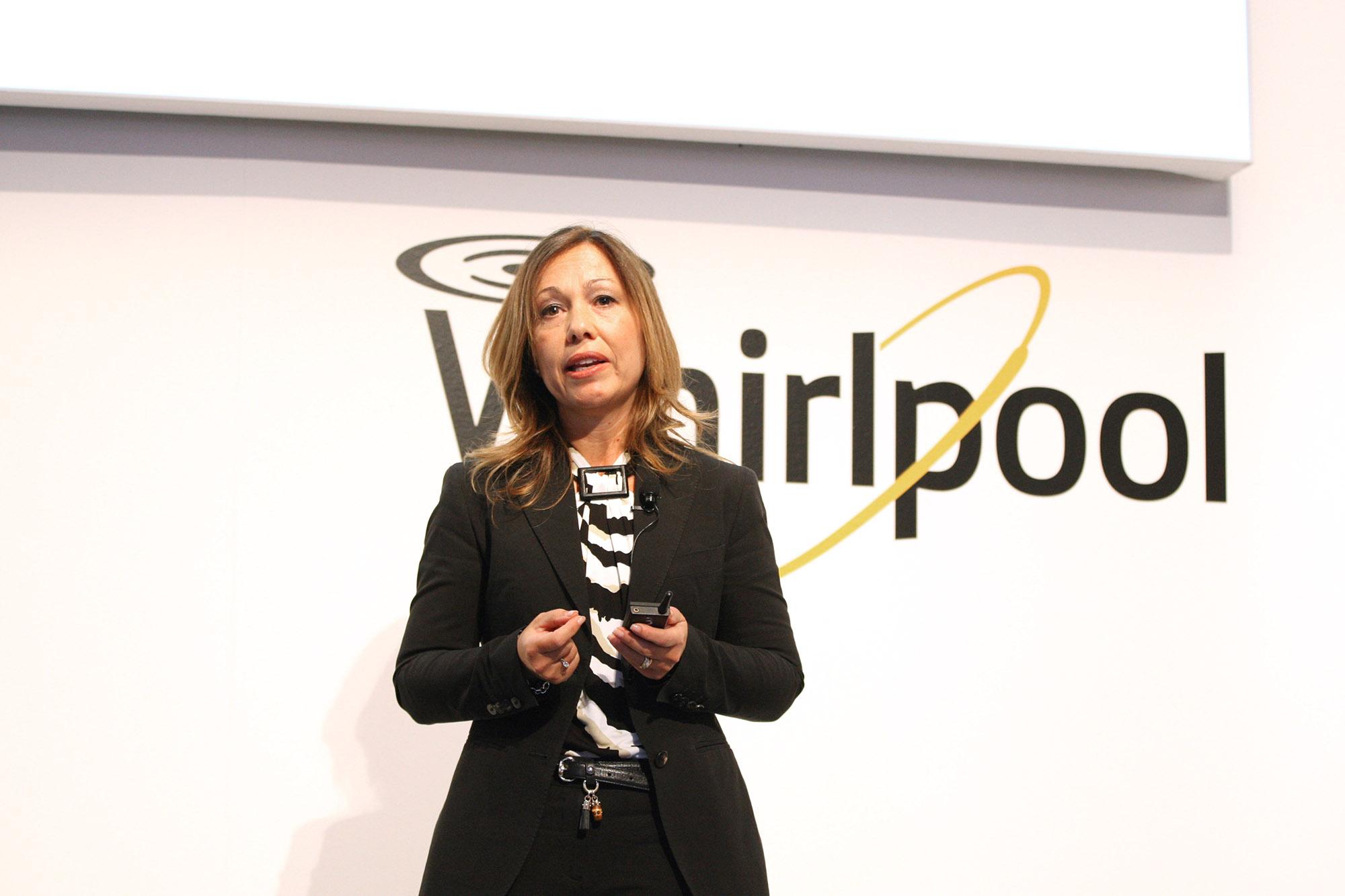 Esther Berrozpe Galindo, President Whirlpool EMEA, auf der Whirlpool-Pressekonferenz zur IFA.