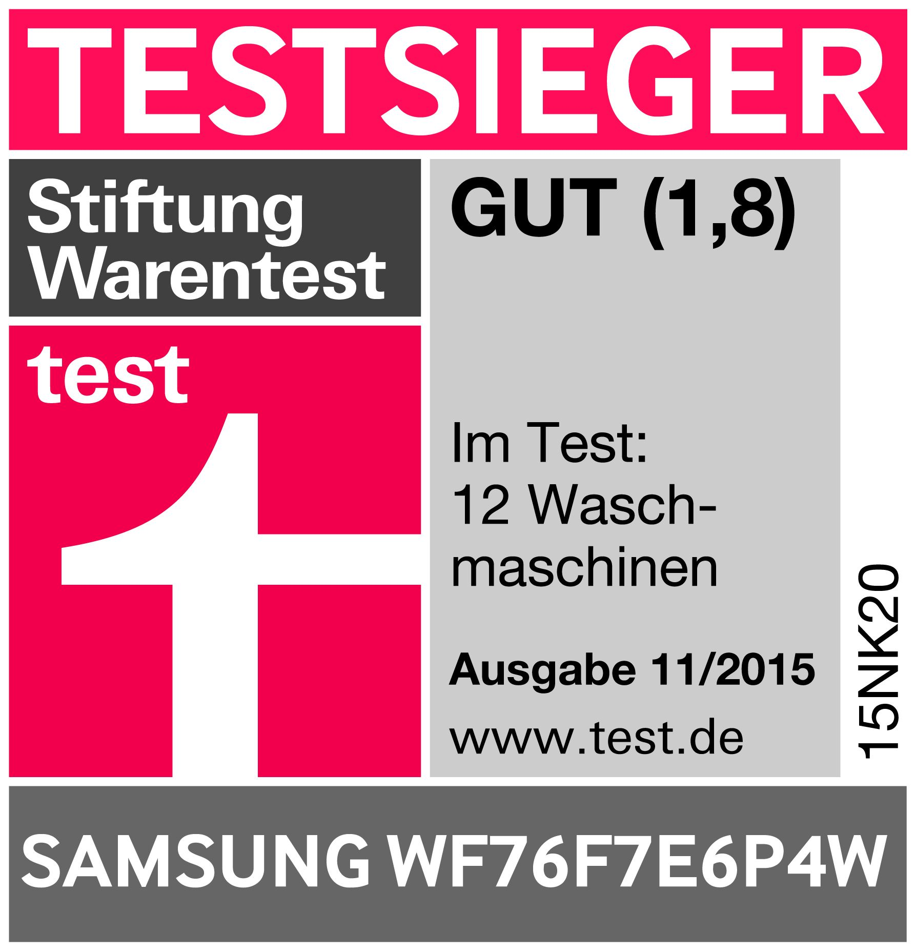 waschmaschinen im test test samsung macht das rennen. Black Bedroom Furniture Sets. Home Design Ideas