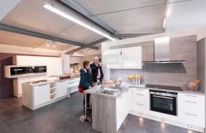 """""""küchenplus"""" ist flexibel: die Einstiegslösung ist ab 25 qm umsetzbar, das Erlebnisstudio ab 200 qm."""