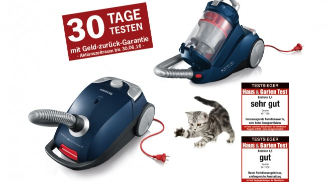 """Eine """"30-Tage-Geld zurück Aktion"""" soll den Abverkauf der Staubsauger aus der Serie`S Special car Pet & carpets unterstützen."""