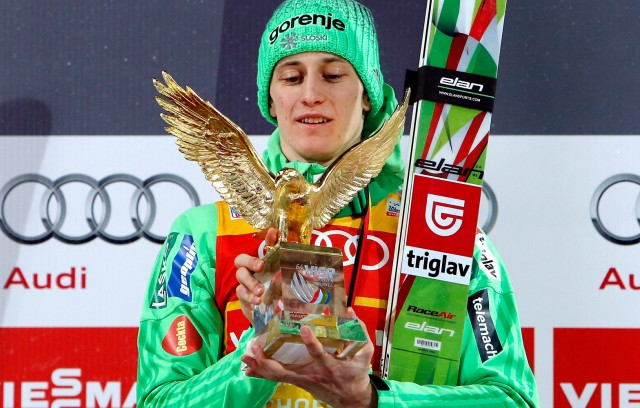 Der Sponsor gewinnt mit: Sieg bei der Vierschanzentournee.