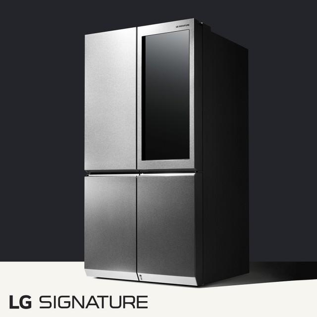 Der Signature Kühlschrank von LG öfffnet sich wie von Zauberhand.