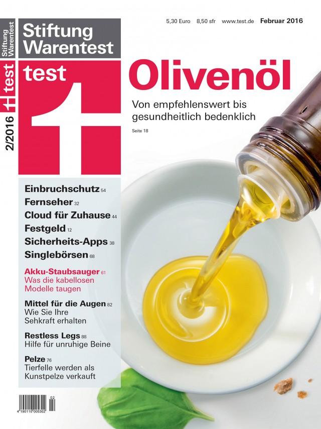 """Die Februar-Ausgabe von """"test"""" der Stiftung Warentest nahm Akku-Staubsauger unter die Lupe."""