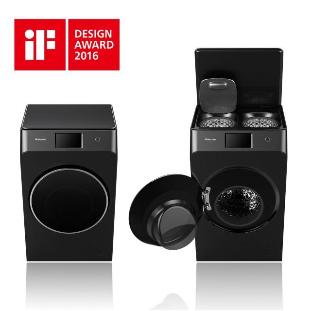 Die Drei-Trommel-Waschmaschine von Hisense bekam den iF Design Award.