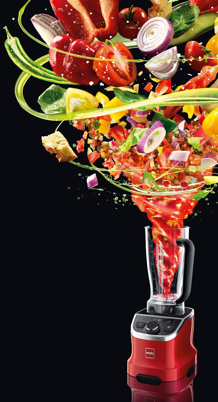 Premiere auf der Ambiente: Der neue VitaBlender von Novis setzt auf das Trend-Thema gesunde Ernährung.