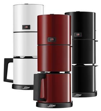Designstarke Kaffeemaschine für 8 Tassen: cafena 5 von Ritter.