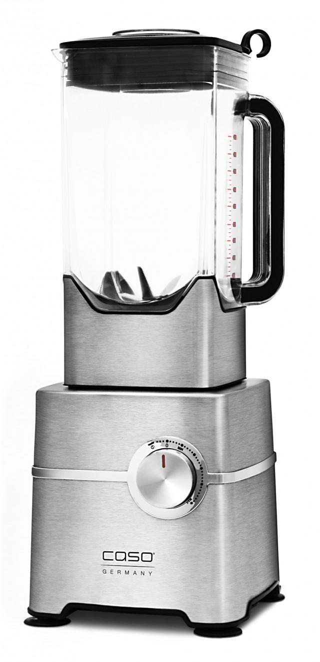 Caso Mixer B2000 mit Gehäuse aus gebürstetem Aluminium.