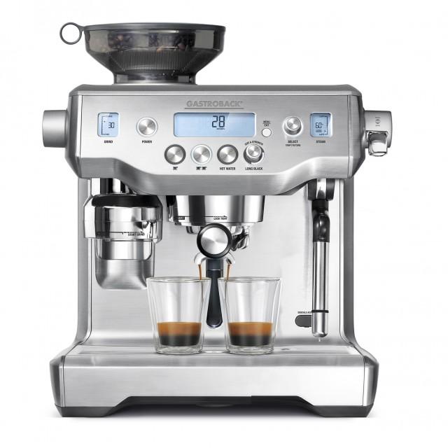 Gastroback Espressomaschine Espresso Advanced Professional mit 58 mm Edelstahl-Siebträger.