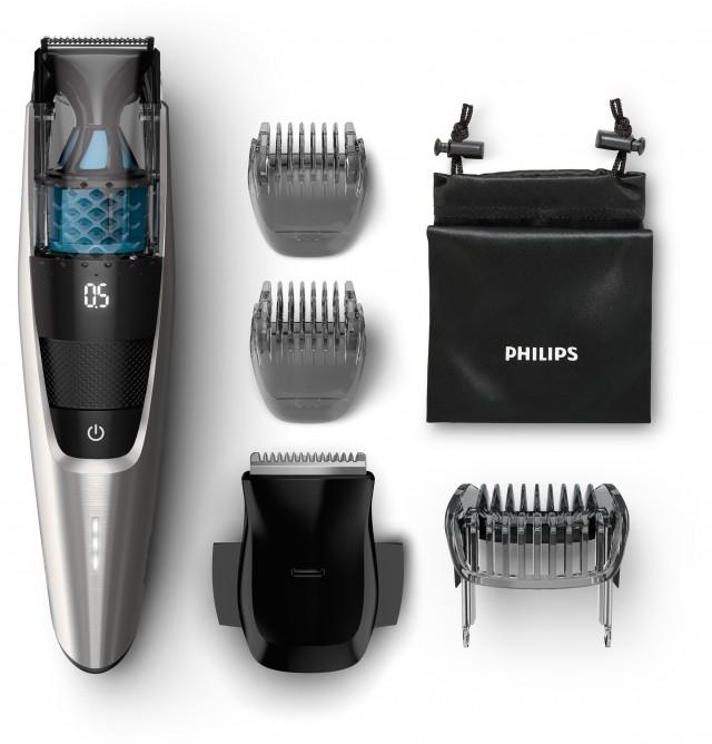 Der Philips Vakuum-Bartschneider Series 7000 - BT7220/15 , komplett