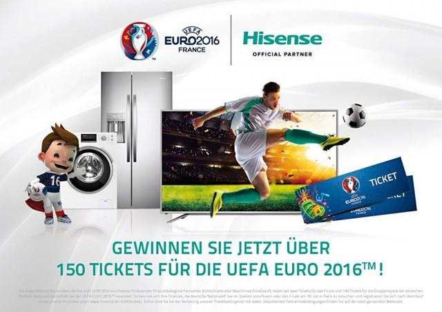 Hisense Aktion zur Europameisterschaft