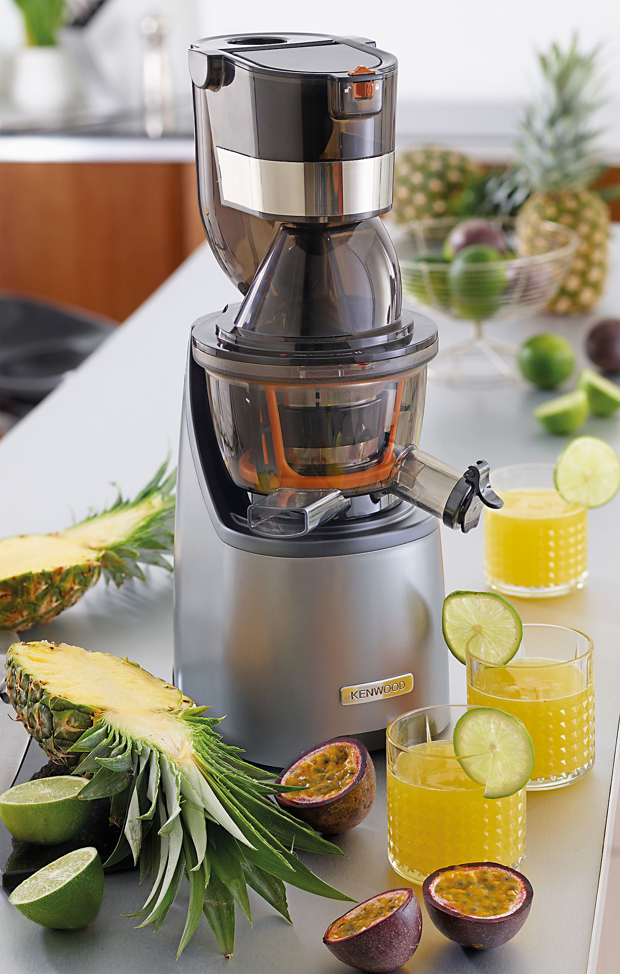 Slow Juicer Til Kenwood : Kenwood Entsafter Slow Juicer JMP800SI