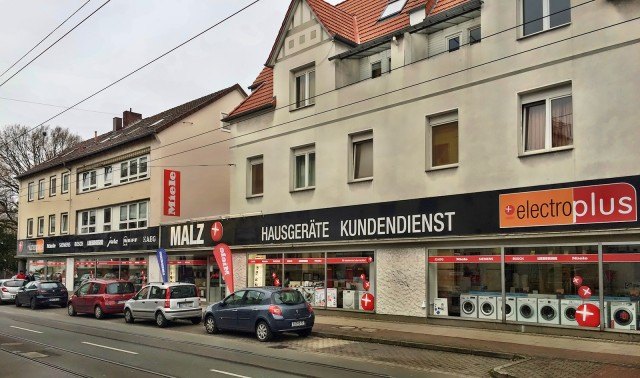 Die Malz Hausgeräte Service GmbH setzt in Bielefeld auf die Strahlkraft von electroplus und Miele.