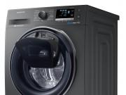 Samsung Waschmaschine AddWash Inox WW6500 mit Nachladetür im Bullauge.