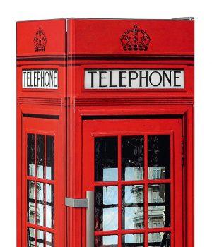 Very britisch, very stylish: Die Kühlschrank-Telefonbox von Liebherr.