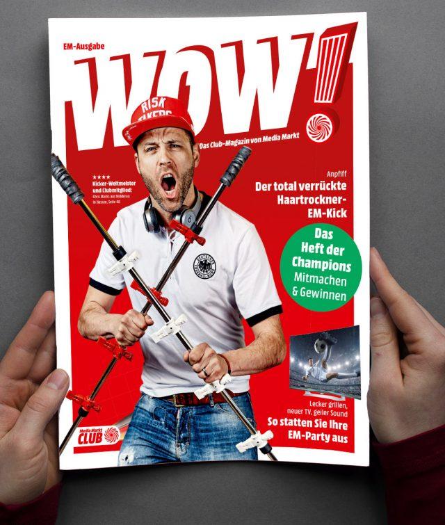 """Nah am Kunden mit dem Club-Magazin """"WOW!"""""""