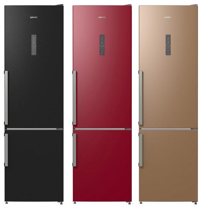 Zum Jubiläum präsentiert Gorenje drei exklusive Kühl-Gefrier-Kombis in den Farben Scharz, Rot, Gold, in denen ein Füllhorn an durchdachten Ideen stecken.