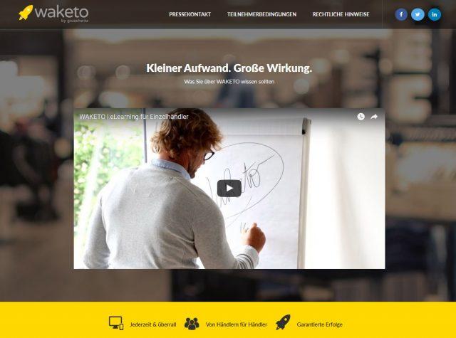 Webseite Waketo