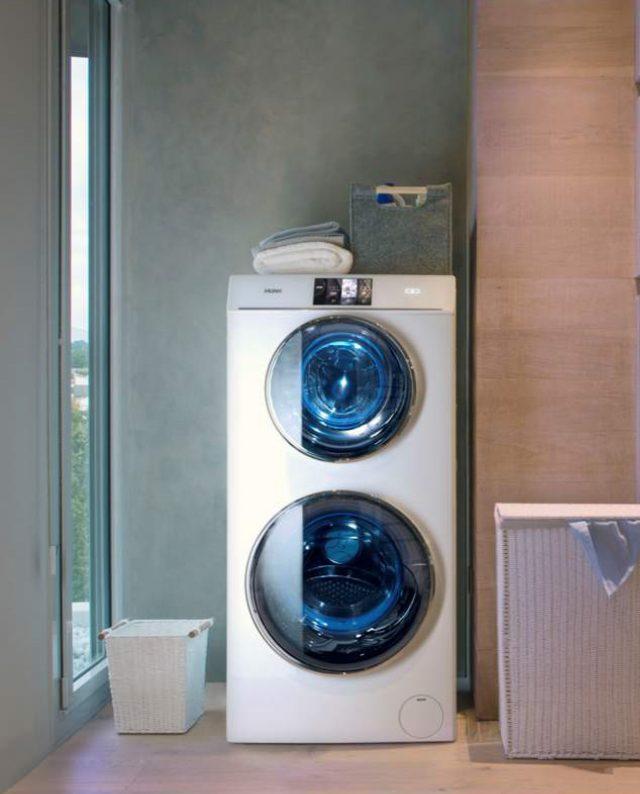 Der Haier Duo Waschvollautomat mit zwei Waschtrommeln