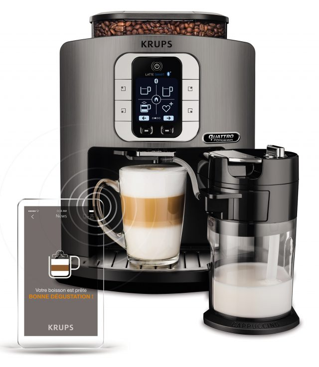 Krups Kaffeevollautomat Latte Smart EA 860E steuerbar per App.