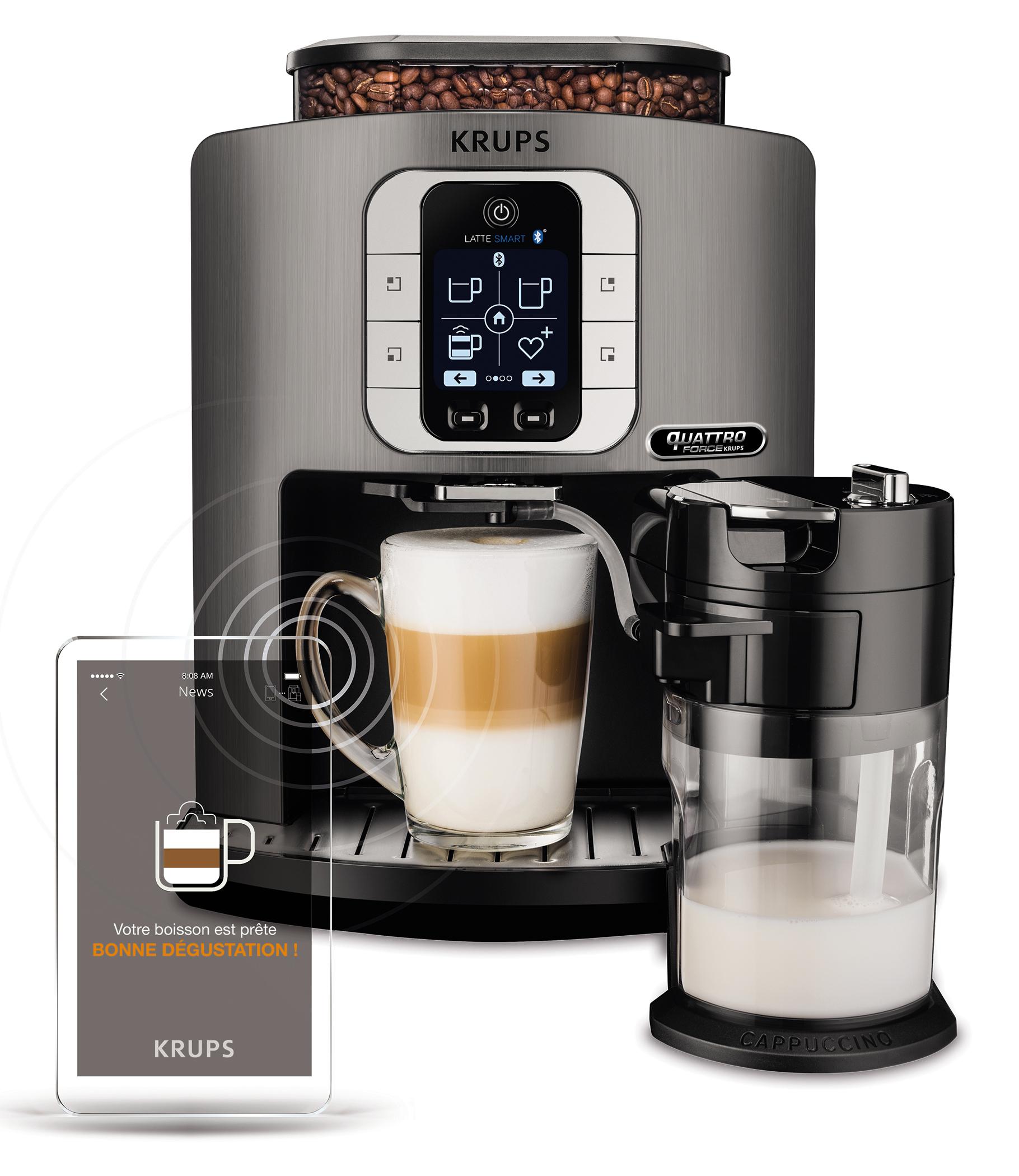 krups kaffeevollautomat latte smart ea 860e. Black Bedroom Furniture Sets. Home Design Ideas