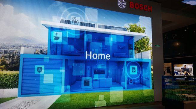 Für die Präsentation des vernetzten Hauses gönnt sich Bosch eine komplett neue Messestandarchitektur.