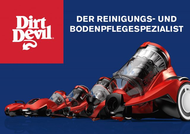 Dirt Devil ist eine starke Marke, nun ausgezeichnet mit dem German Brand Award für herausragende Markenführung.