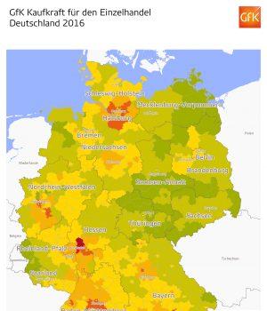 GfK Einzelhandelskaufkraft Deutschland 2016