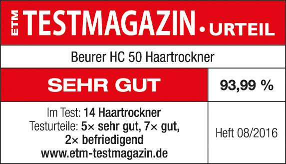 Siegel Haartrockner HC 50 von Beurer.