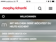 Screenshot Cook & Create App von Morphy Richards
