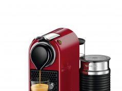 Die Nespresso Kapselmaschine CitiZ&milk mit integriertem Aeroccino3 Milchaufschäumer