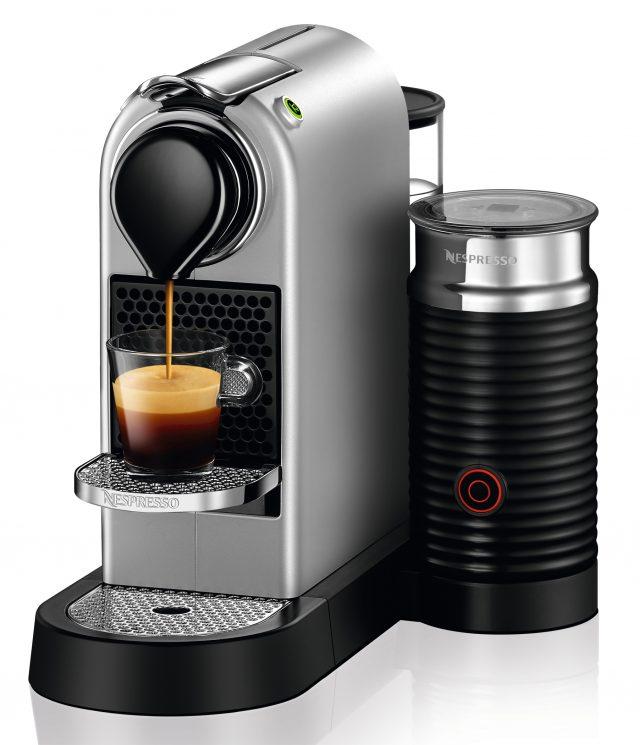Nespresso Kaffeemaschine CitiZ Restyling mit und ohne Milchaufschäumer.