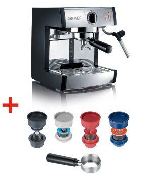 Die pivalla von Graef kann jetzt auch aus Kapseln köstliche Kaffee-Spezialiäten kreieren.