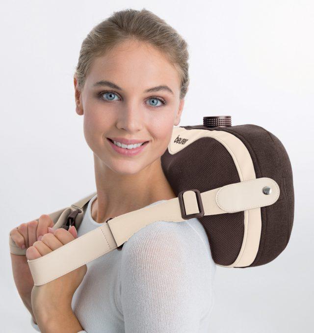 Beurer Massagekissen MG 520 To Go mit 4 Shiatsu Massageknöpfen.