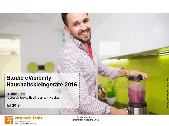 Cover zur Studie eVisibility Haushaltskleingeräte