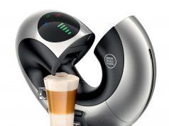 De'Longhi Nescafé Kaffeemaschine Dolce Gusto Eclipse ist eine kreisrunde Kaffeemaschine.