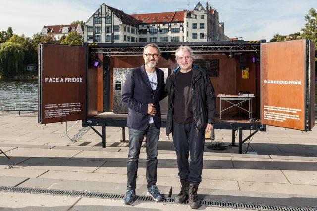 Engagieren sich für die gute Sache: der Künstler Thierry Noir und Sternekoch Massimo Bottura. Foto: Christoph Neumann