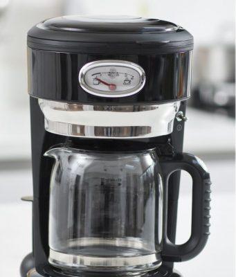 Russell Hobbs Kaffeemaschine Retro Classic Noir mit Glas- oder Thermokanne.