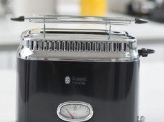 Russell Hobbs Toaster Retro Classic Noir mit 6 Bräunungsstufen.