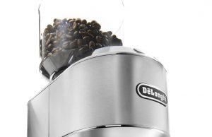 De´Longhi Kaffeemühle Dedica mit Edelstahl-Kegelmahlwerk.