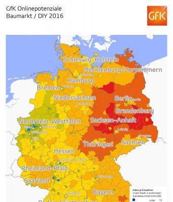 gfk Onlinepotenziale Baumarkt 2016