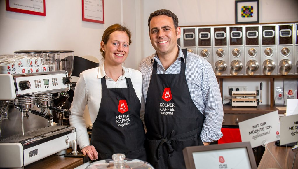 Erfolgreiches Start-up: Meike und Georg Hempsch gründeten im September 2015 die Kölner Kaffeemanufaktur.