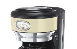 Russell Hobbs Kaffeemaschine Retro Vintage Cream mit Glas- oder Thermokanne.