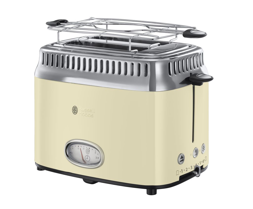 russell hobbs toaster retro vintage cream 21682 56. Black Bedroom Furniture Sets. Home Design Ideas