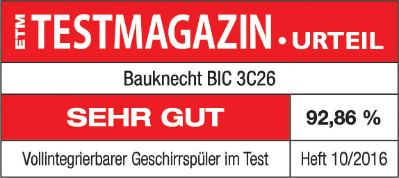 Testlogo Einbaugeschirrspüler BIC 3C26